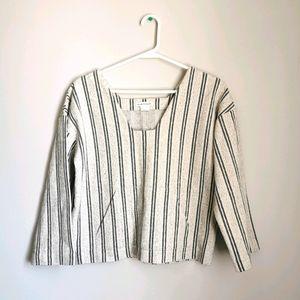 Club Monaco Striped Boho Style Pullover - Small